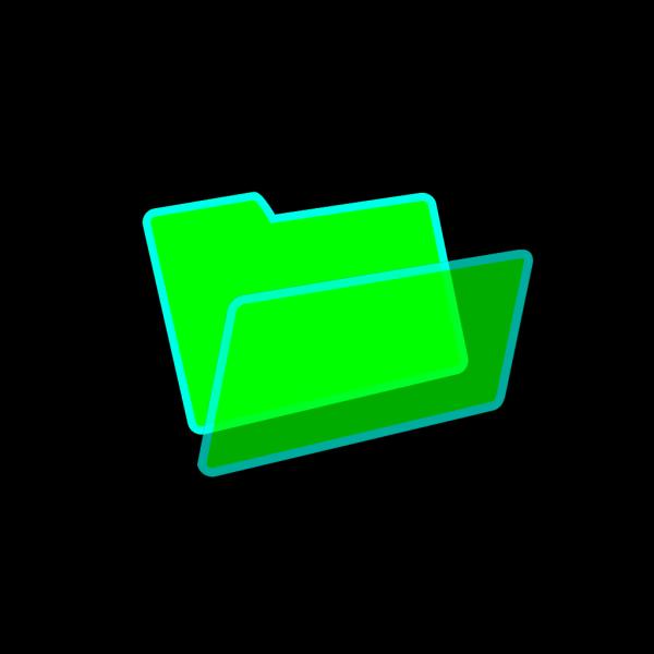 Green/blue Folder PNG Clip art