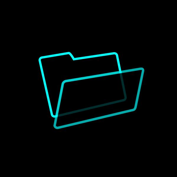 Blue And Black Folder PNG Clip art