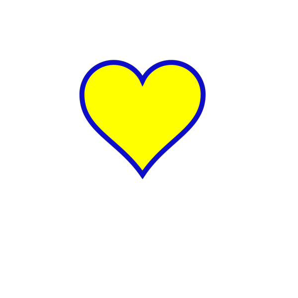 Michigan Blue Gold Heart PNG Clip art