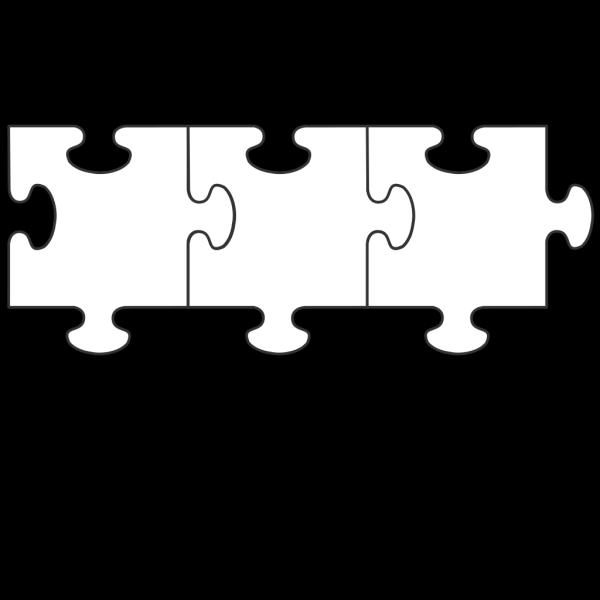 Blue Border Puzzle Piece Top-blue Fill PNG Clip art