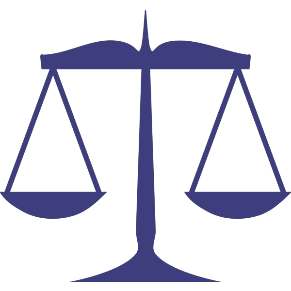 Blue Scales Justice PNG Clip art