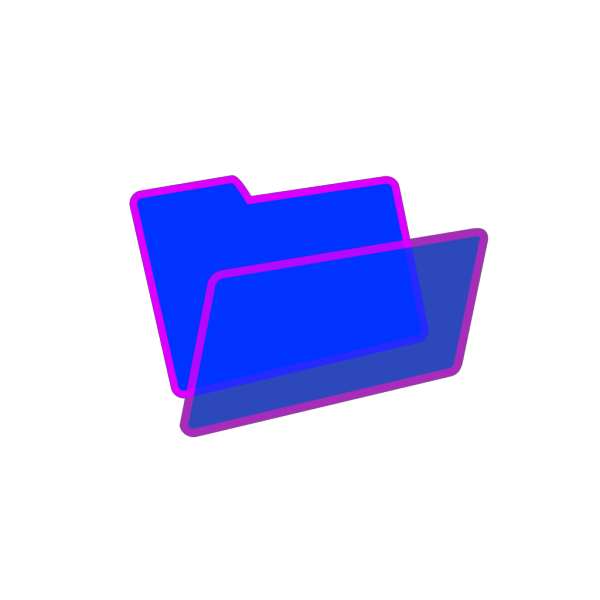 Purple And Blue Folder PNG Clip art