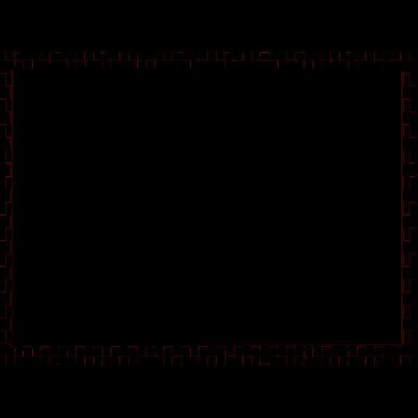 Checkerboard Border Blue PNG Clip art