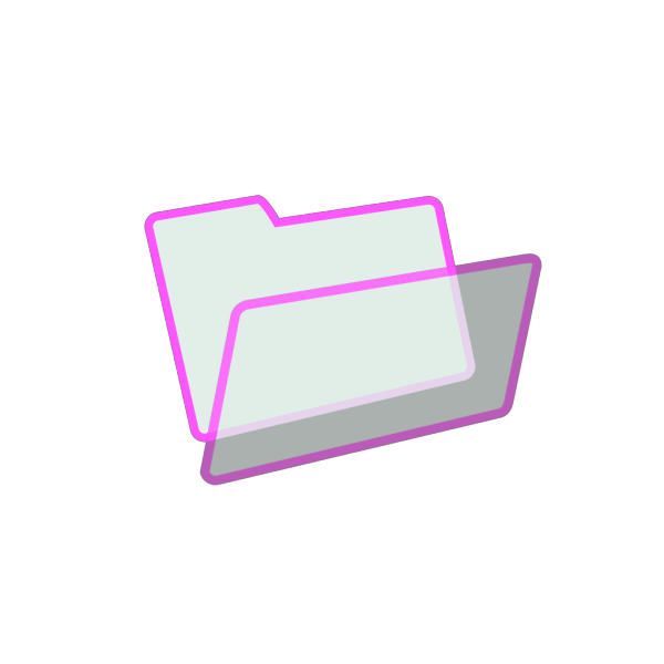 Empty Pink Folde Icon PNG Clip art