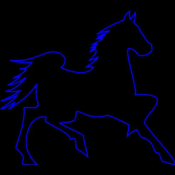 Blue Horse Silhouette PNG Clip art