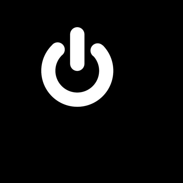 White Power Button PNG Clip art