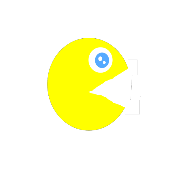 Pacman Open Mouth PNG Clip art