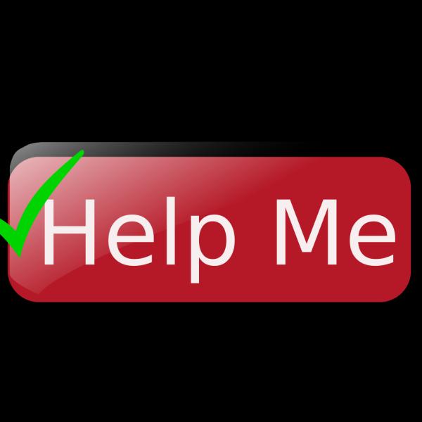 Help Me Button PNG Clip art