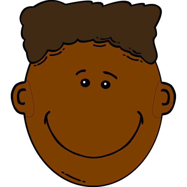 Black Boy With Flattop PNG Clip art