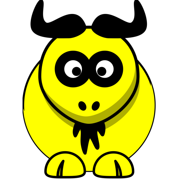 Yellow Ox PNG Clip art