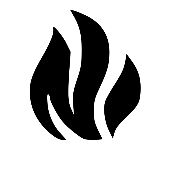 Black Solid Flame PNG Clip art