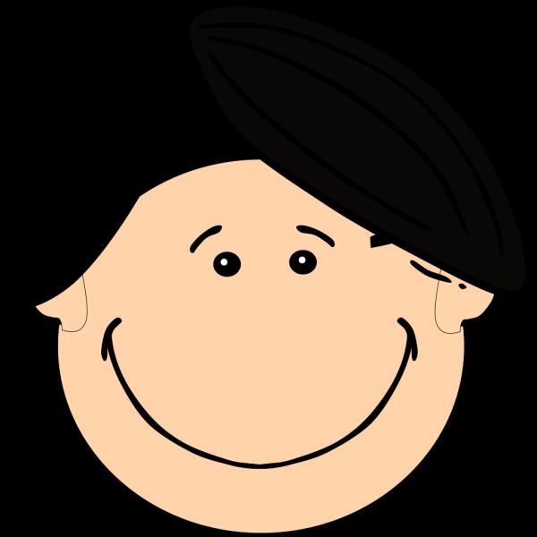 Smiling Dark Hair Boy PNG Clip art