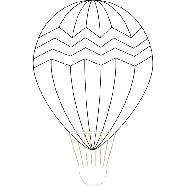 Hot Air Balloon Black And White PNG Clip art