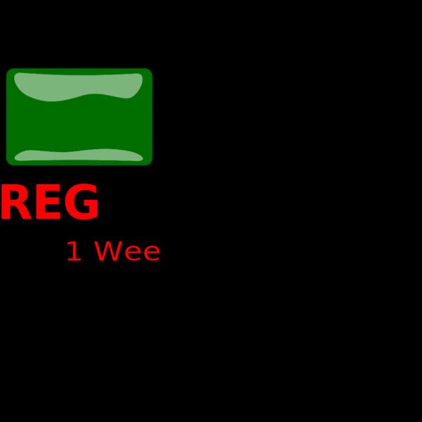 Green Register Button PNG Clip art