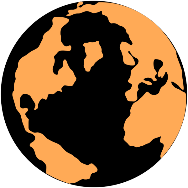 Orange And Black Globe PNG Clip art