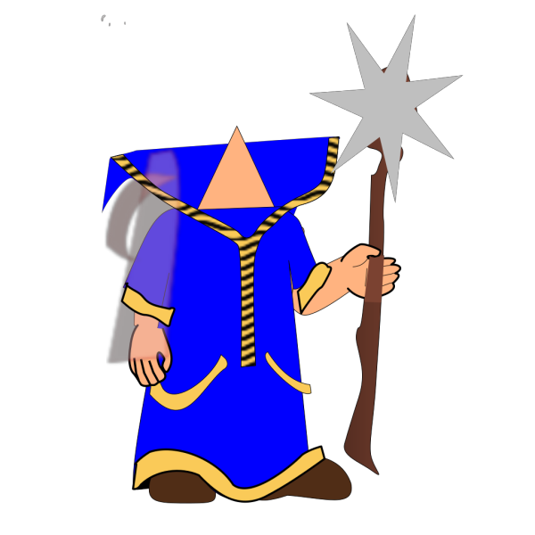 Headless Blue Wizard PNG images