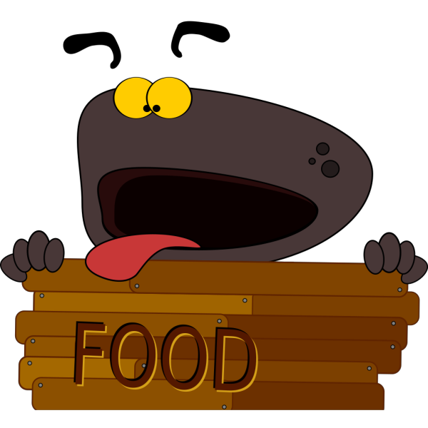Hungry Dog Character PNG Clip art