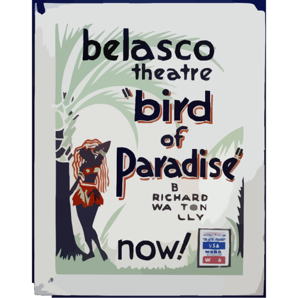 Bird Of Paradise  By Richard Walton Tully PNG Clip art