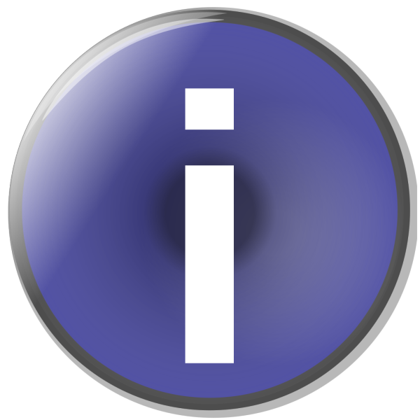 Blue Circle Info Button PNG icons