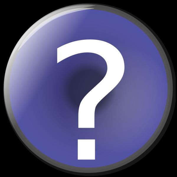 Blue Circle Help Button PNG Clip art
