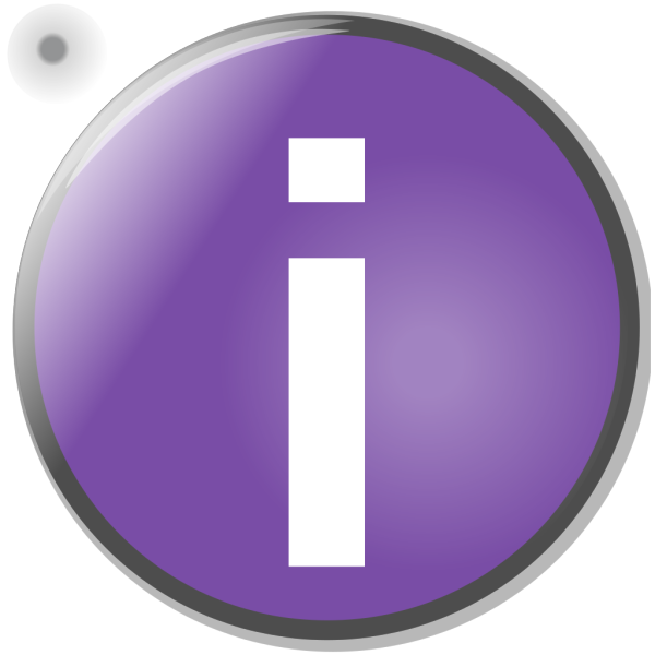 Purple Circle Info Button PNG images