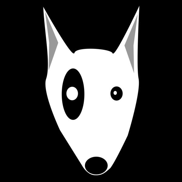 Cartoon Bullterrier Head PNG Clip art