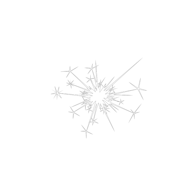 Black And White Fireworks PNG image