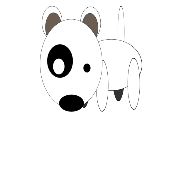 Round Cartoon Bullterrier PNG Clip art