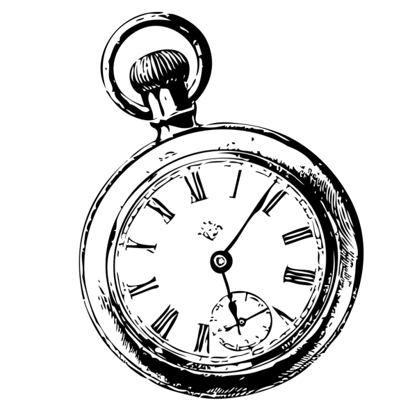 Pocket Watch Sketch PNG Clip art