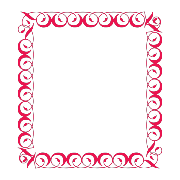 Black Scroll Border PNG Clip art