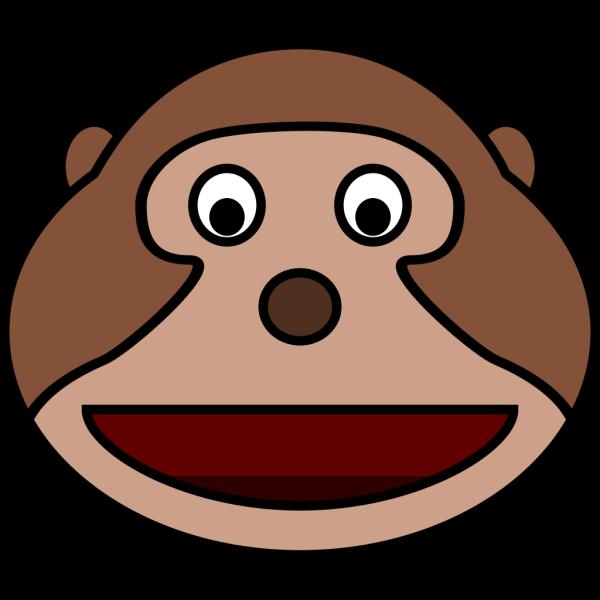 Smiling Monkey Head PNG Clip art