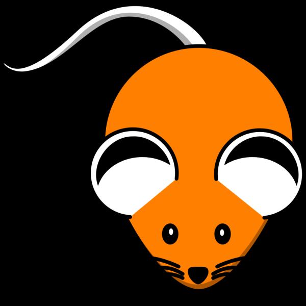 Orange Mouse Black Ears PNG Clip art