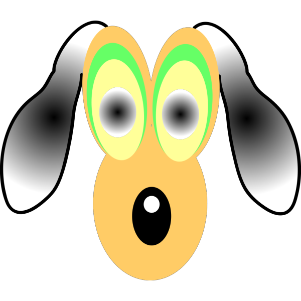 Cartoon Dog With Large Eyes PNG Clip art