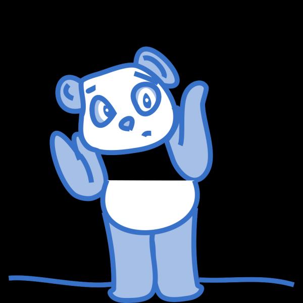 Confused Panda PNG Clip art
