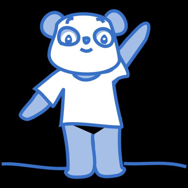 Happy Panda PNG Clip art