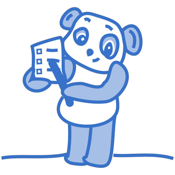 Panda With Checklist PNG Clip art