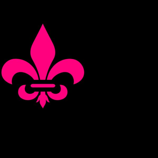 Pink Fleur De Lis Court PNG Clip art