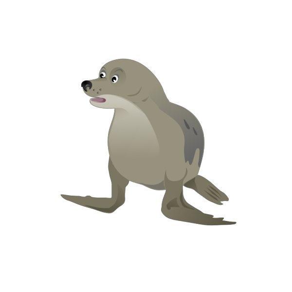 Grey Seal PNG Clip art