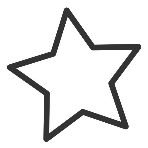 Black And White Star PNG Clip art