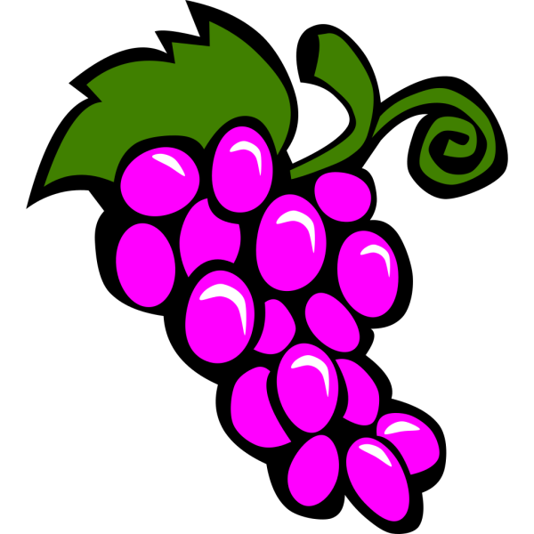 Small Bird And Grapes. PNG Clip art