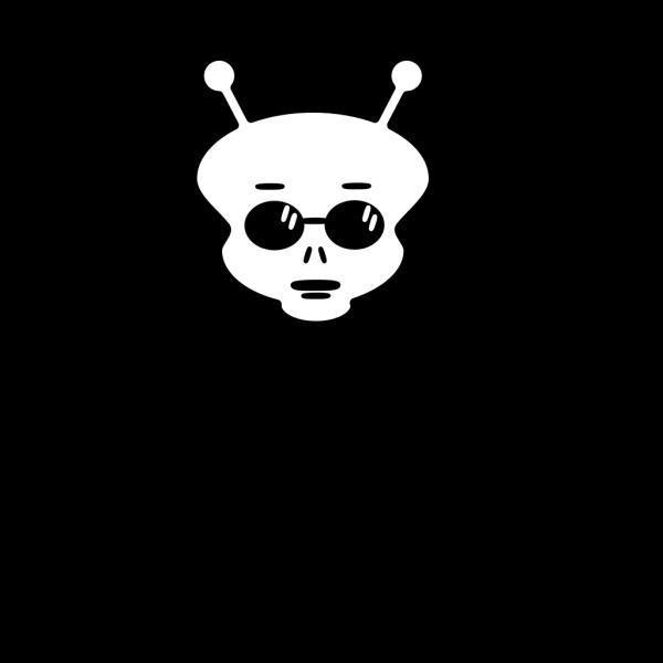 Black And White Alien PNG Clip art