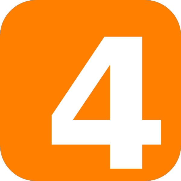 Number 4 Button PNG Clip art