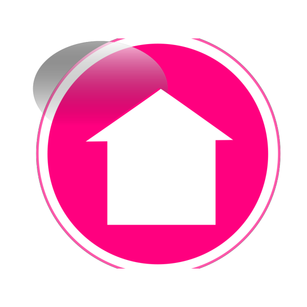 Glossy Home Icon Button PNG Clip art