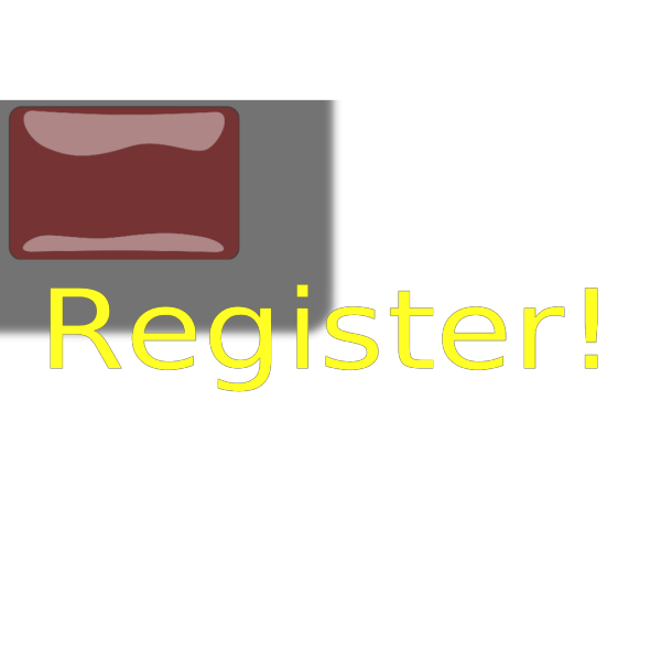 Red Rectangle Register Button