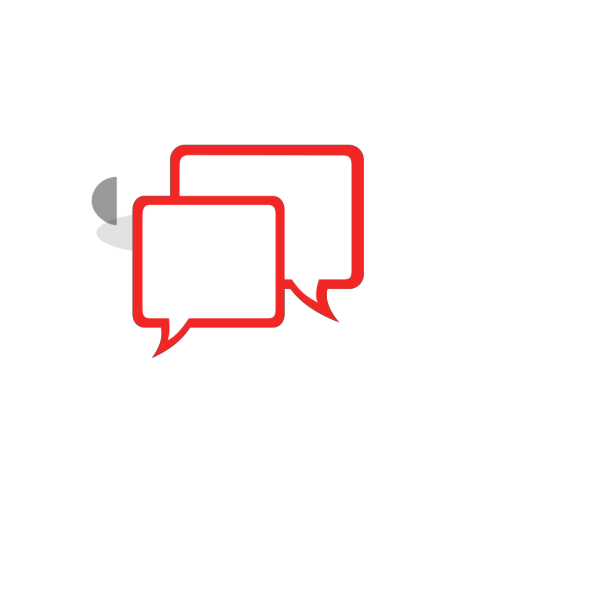 Red Chat Icon Glossy PNG icon