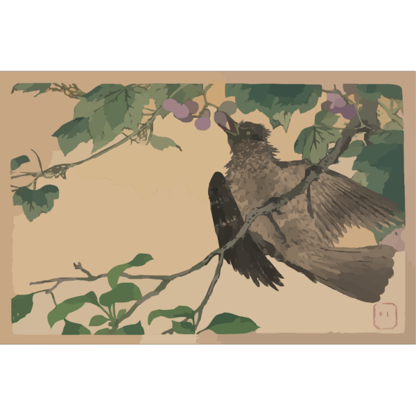 Birds-and-flowers Print. PNG images