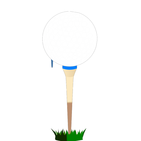 Golf Ball Blue Tee PNG icons