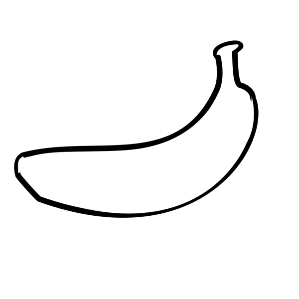 Banana Outline Clip art