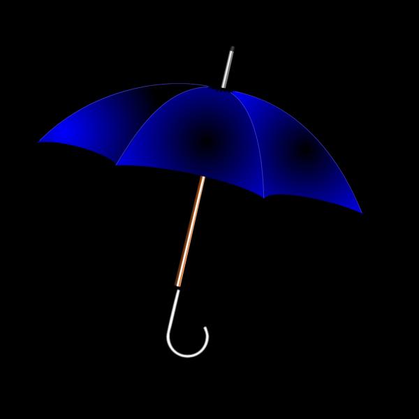 Open Blue  Umbrella PNG Clip art