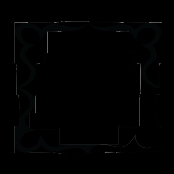 Art Nouveau Frame PNG Clip art